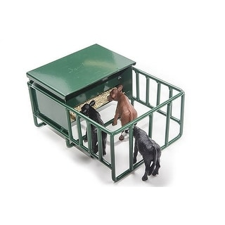 Little Buster Toy Calf Creep Feeder Metal Opens Bin Green 500287