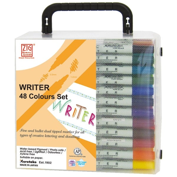 Zig Memory System Writer Dual-Tip Markers 48/Pkg