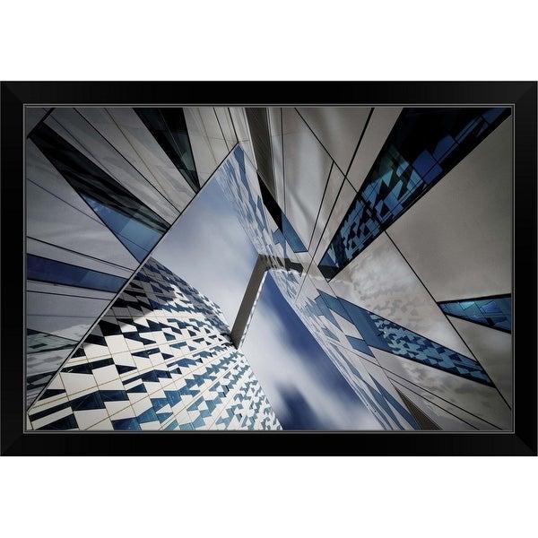 Dan Clausen Hansen Economy Framed Print with Standard Black Frame entitled Triangular Caleidoscope
