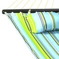 Sunnydaze 2-Person Quilted Hammock with Spreader Bars and Detachable Pillow - Hammock Stand Included - Thumbnail 36