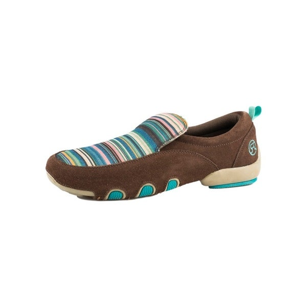Roper Western Shoes Womens Suede Stripes Bailey