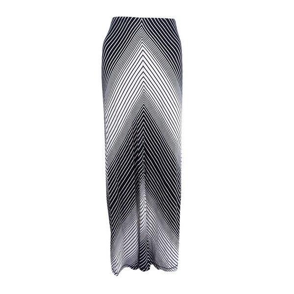 6a82fc40b3 Shop Studio M Women's Stripe Maxi Skirt (L, Black Combo) - black/combo - L  - Free Shipping On Orders Over $45 - Overstock - 21267877