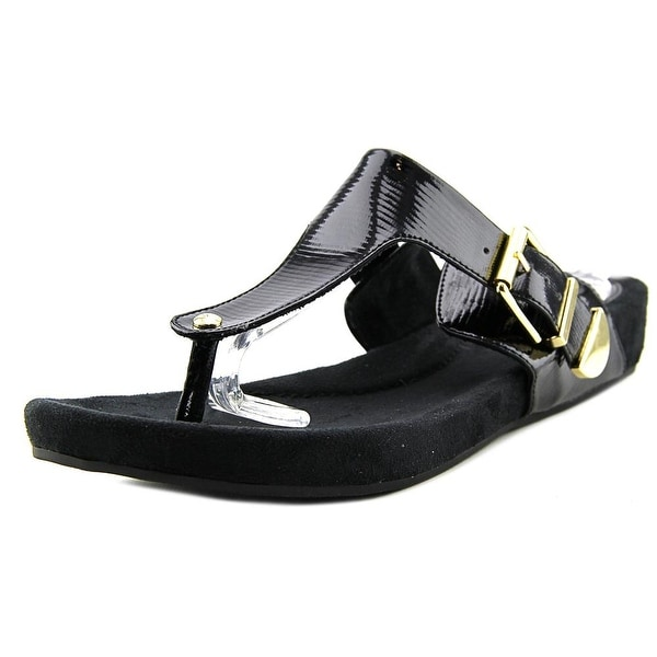 Giani Bernini Ryanne Women Open Toe Synthetic Black Sandals