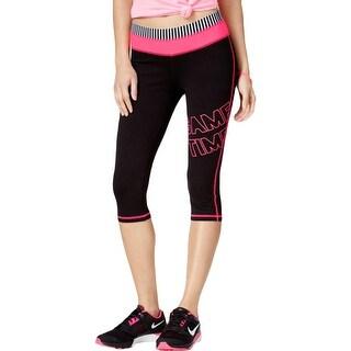 Material Girl Womens Juniors Athletic Leggings Foldover-Waist Pull On