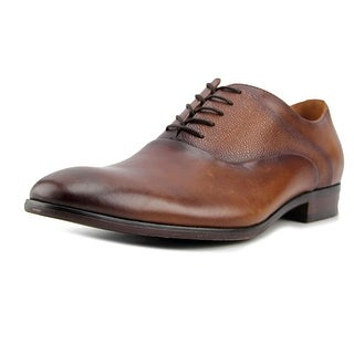 Steve Madden prymm Men  Round Toe Leather Tan Oxford