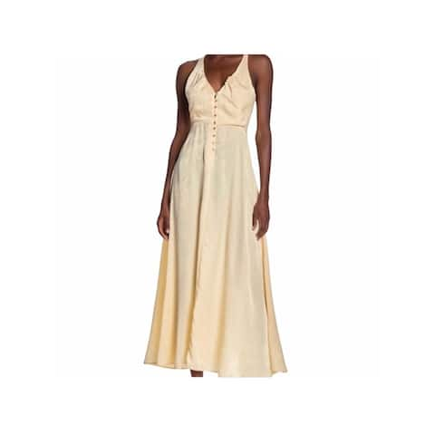 FREE PEOPLE Ivory Sleeveless Tea-Length Dress XS
