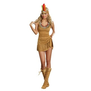 Sexy Queen Of The Tribe Native American Costume Dress Adult