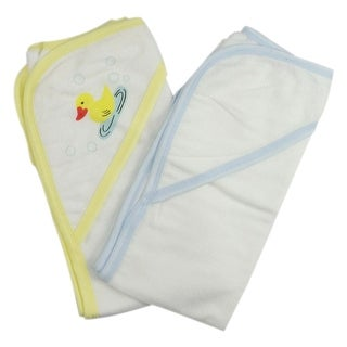 Bambini Infant Hooded Bath Towel (Pack of 2) - Size - One Size - Unisex