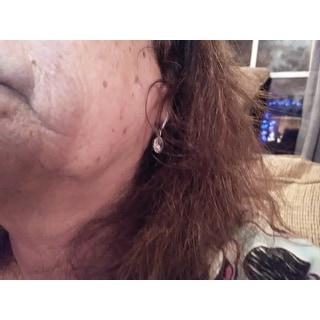 Collette Z Sterling Silver Round-cut Cubic Zirconia Halo Drop Earrings