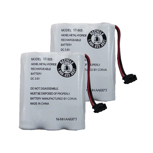 Replacement Battery For Uniden EXAI5580 Cordless Phones - BT905 (600mAh, 3.6V, NiCD) - 2 Pack
