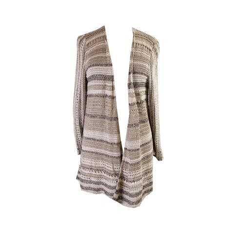 Style & Co. Natural Open-Knit Marled Cozy Cardigan XL