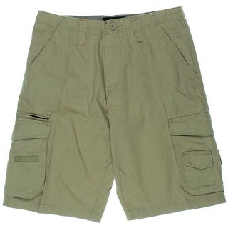 Burnside Mens Cotton Flat Front Cargo Shorts - 30