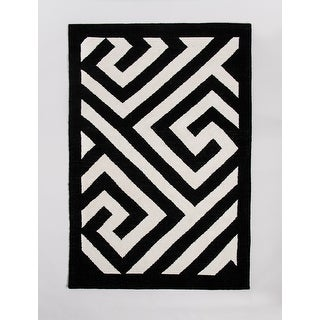 Link to Handwoven, Indoor Outdoor Stain Resistant Rug - Vancouver - Black - 5' x 8' - 5' x 8' Similar Items in Rugs