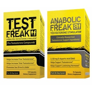 (1) PHARMAFREAK - TEST FREAK - USA Testosterone Booster and (1) PharmaFreak ANABOLIC FREAK Testosterone Stimulator