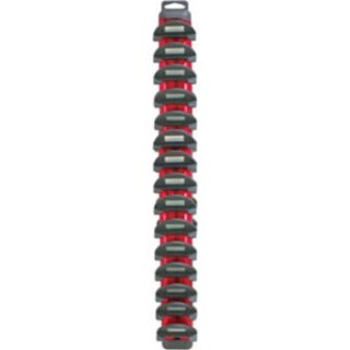 Wrench Rac with Free Pocket COB LED Light Stick, Red - 15 Piece