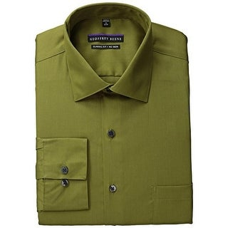 Geoffrey Beene Mens Poplin Classic Fit Dress Shirt