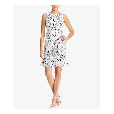 RALPH LAUREN Ivory Sleeveless Above The Knee Shift Dress Size 8P