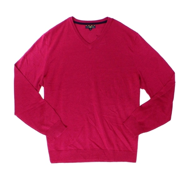 87684a3d6fb Shop club room new berry glaze pink mens size pullover neck sweater free  shipping on orders