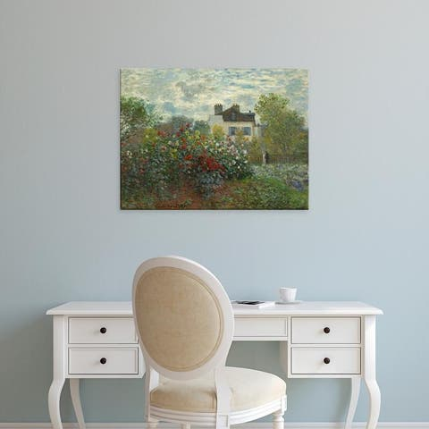 Easy Art Prints 's 'The Artist's Garden in Argenteuil, 1873' Premium Canvas Art