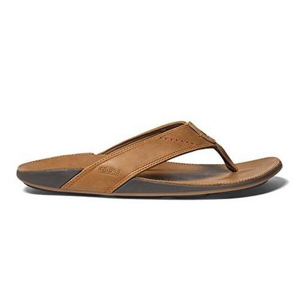 Olukai Mens Nui Sandal, Tan/Tan, 9 - 9 d(m) us