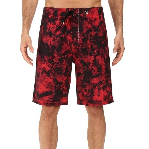 Hurley NEW Red Men's Black Size 30 Phantom Drawstring Board Surf Shorts