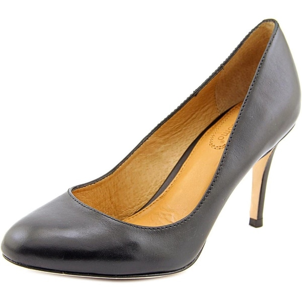 Corso Como Webster Women Round Toe Leather Black Heels