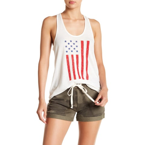 Alternative White Womens Size XL Racerback High Low Knit Top