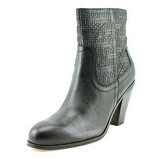 Corso Como Harvest Women  Round Toe Leather Black Ankle Boot