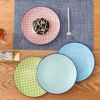 Link to vancasso Macaron 4-Piece Multi-Color Dinner Plates Dessert Soup Plates Similar Items in Dinnerware
