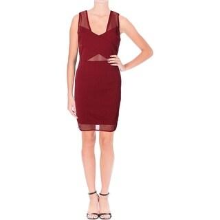 Lucy Paris Womens Clubwear Dress Mesh Inset Sleeveless