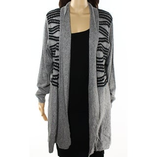 Alberto Makali NEW Gray Womens Size XL Studded Cardigan Sweater