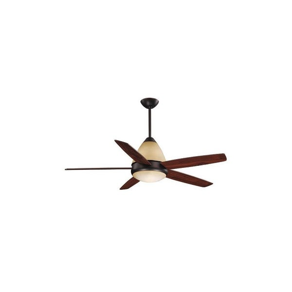 "Vaxcel Lighting FN52238 Fresco 52"" 5 Blade Indoor Ceiling Fan - Remote Control, Light Kit and Blades Included"