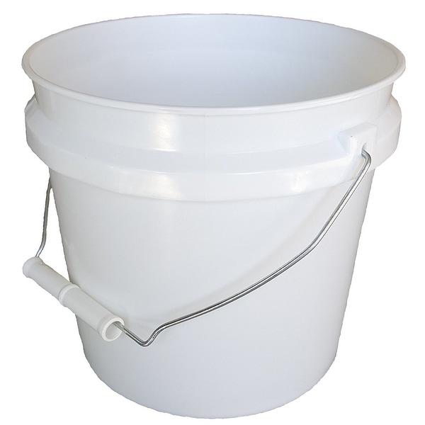 Leake 1gl Plastic Paint Pail Container White 1 Gallon