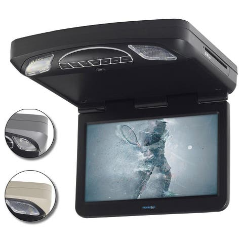 """Movies To Go By Voxx 13.3"""" Overhead Monitor W/Dvd Hdmi Input 3 Color Trim Rings"""