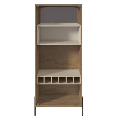 Manhattan Comfort Joy 6-bottle 4-shelf Wine Cabinet