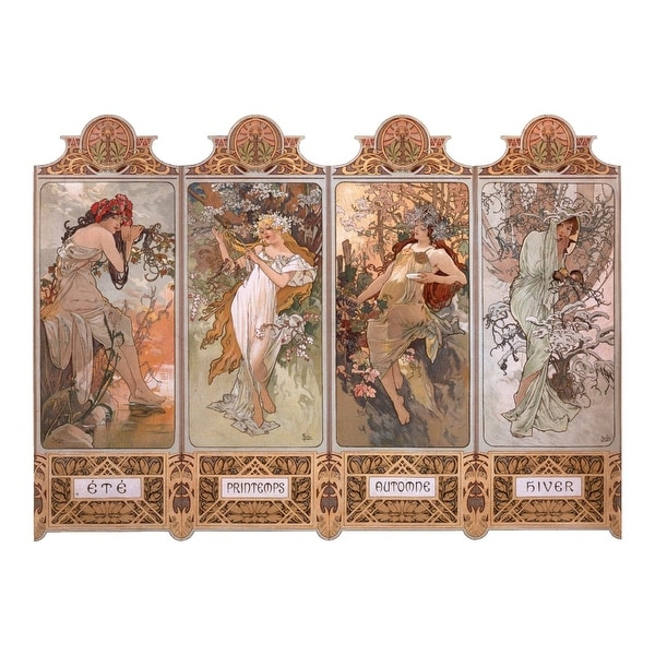 The Seasons Mucha, Alphonse 1896 Vintage Ad (Light Switchplate Cover)