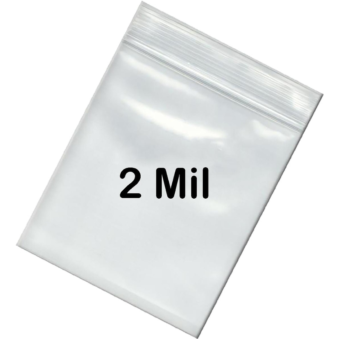 2 Mil Reclosable Bag with White Block 2 x 3 Quality Plastic Bags Clear 2000 Pieces