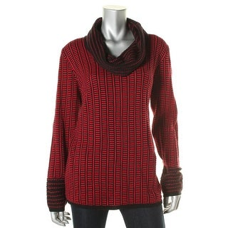 Calvin Klein Womens Cotton Woven Pullover Sweater