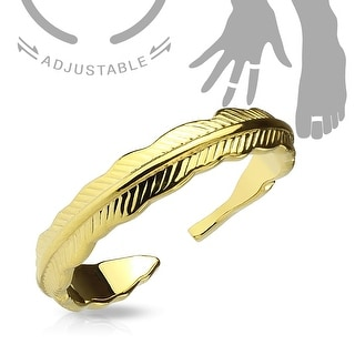 Tribal Feather Adjustable Toe Ring/Mid Ring (Sold Ind.)