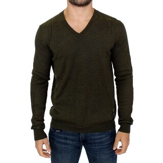 Karl Lagerfeld Karl Lagerfeld Green v-neck pullover sweater