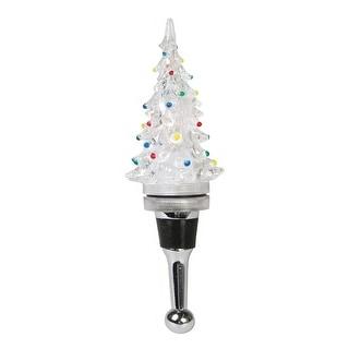 Christmas Tree Light-Up Bottle Stopper - Electric LED Lights
