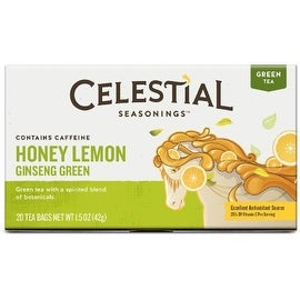Celestial Seasonings Tea Honey Lemon Ginseng Green Tea 20 ea