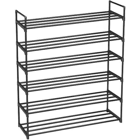 6 Tiers Shoe Rack Shoe Tower Shelf Storage Organizer