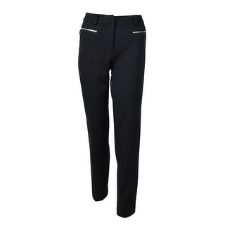 Jones New York Women's Twill Zip Pocket Dress Pants - 4