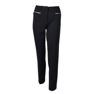 Jones New York Women's Twill Zip Pocket Dress Pants - Navy - 4