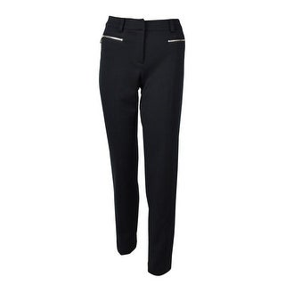 Jones New York Women's Twill Zip Pocket Dress Pants - Navy