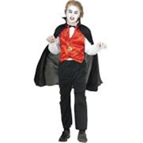 Rg Costumes 29022-S Kids Vampire Vest & Cape - Black & Red, Small