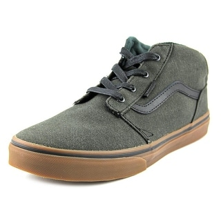 Vans Chapman Mid Youth Round Toe Canvas Black Skate Shoe