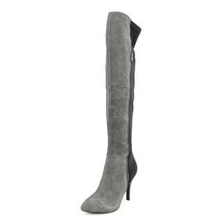 Carlos Santana Prime Women Pointed Toe Suede Gray Knee High Boot