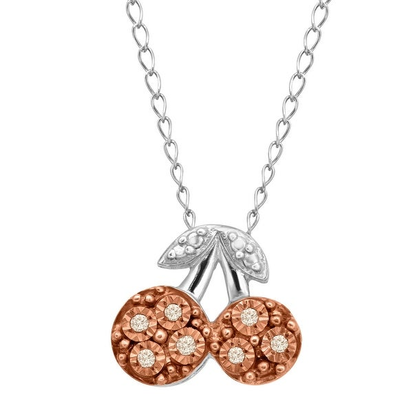 cb7117557364f Shop Teeny Tiny Cherry Pendant with Champagne Diamonds in 14K Rose ...